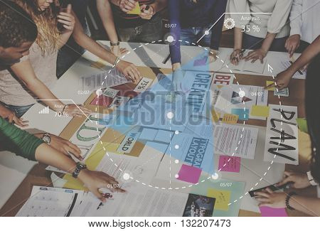 People Meeting Sharing Ideas Table Concept