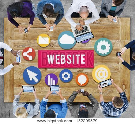 Website Internet Networking Social Browser Data Concept