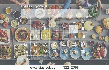 Calendar Dates Appointment Graphic Concept