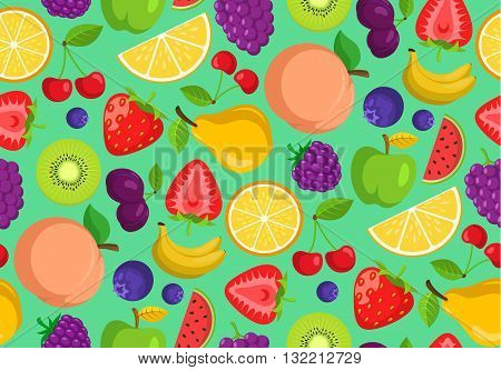 Seamless vector pattern. Bright summer seasonal background.