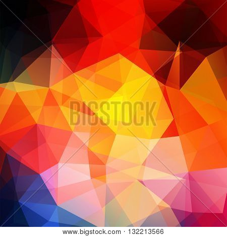 Background Of Geometric Shapes. Colorful Mosaic Pattern. Vector Eps 10. Vector Illustration. Red, Ye