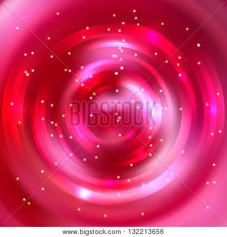 Abstract Colorful Background, Shining Circle Tunnel. Elegant Modern Geometric Wallpaper. Vector Illu