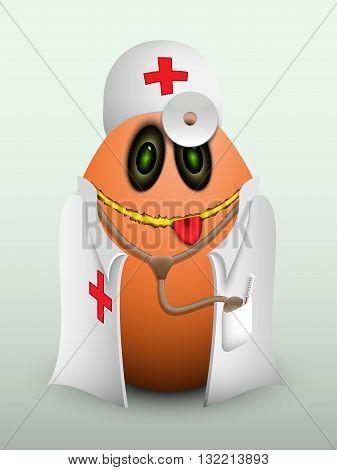 Egg Doctor In Scrubs.