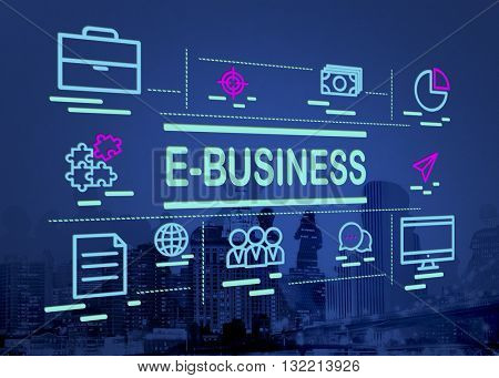 E-business Digital Marketing Internet Website Concept