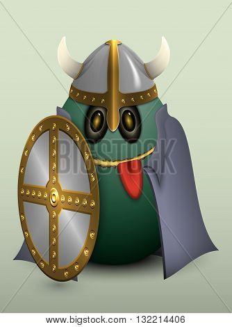 Egg Viking Helmet With Horns.