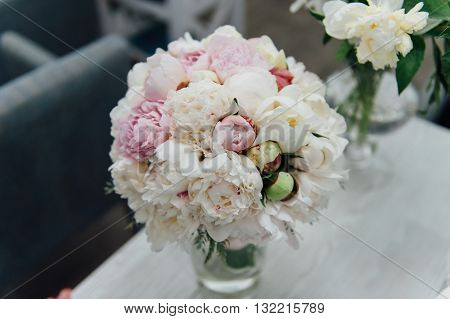 Flowers Of Colored Peonies
