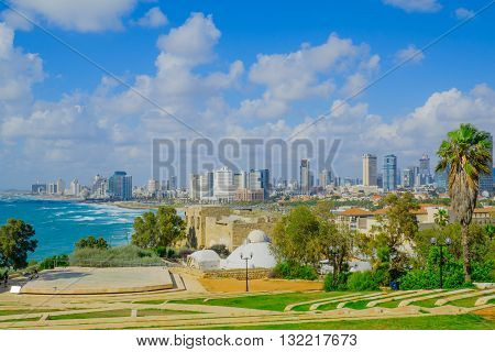 View Of The Beach And Skyline Of Tel-aviv