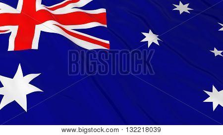 Australian Flag HD Background - Flag of Australia 3D Illustration