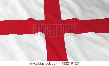 English Flag HD Background - Flag of England 3D Illustration