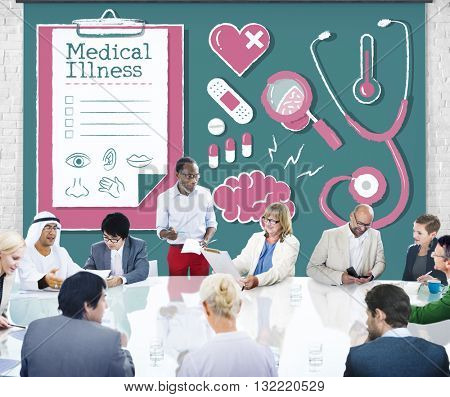 Diagnose Medical Illness Hospital Healthcare Concept