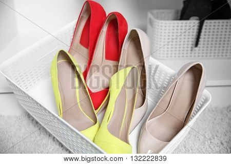 Female high heel shoes in box