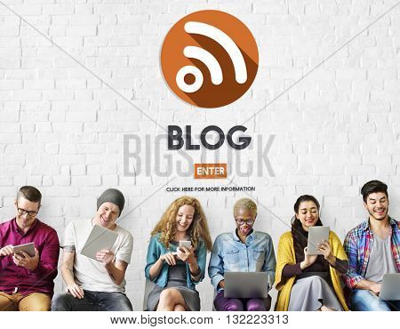 Blog Blogging Website Information Concept