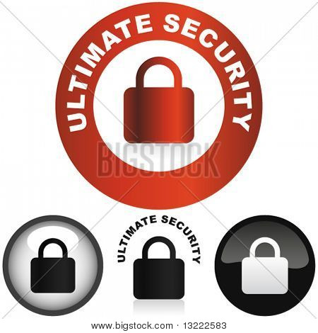 Secure labels with padlock