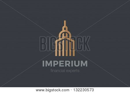 Real Estate Logo Luxury Hotel abstract Linear outline icon