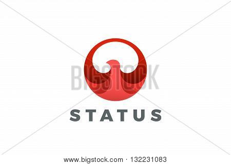 Bird abstract Circle Logo vector Eagle Falcon Hawk Phoenix icon