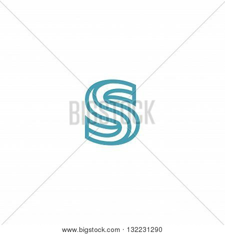 Impossible Letter S Logo design vector Linear Symbol Monogram