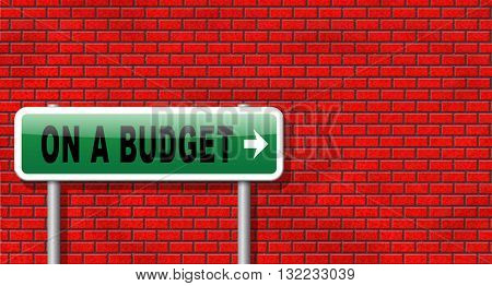 Budgeting the income for deficit or living on a budget with a restricted amount of money. Household budget Average revenue and expediture.