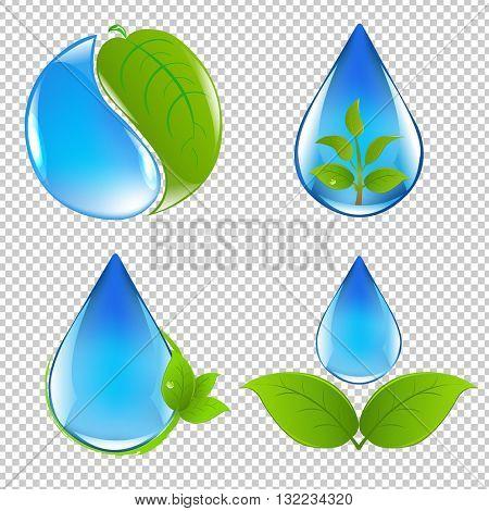 Eco Simbol Isolated, Isolated on Transparent Background