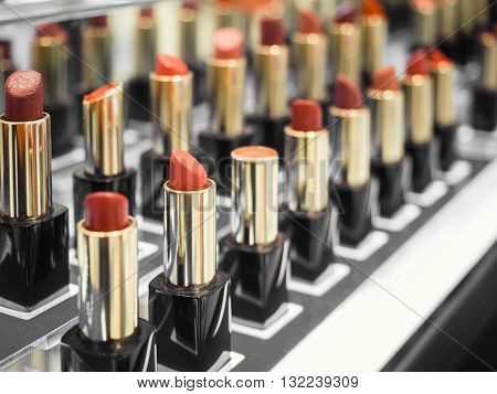 Lipsticks Cosmetic Beauty Colourful Tester Shop display