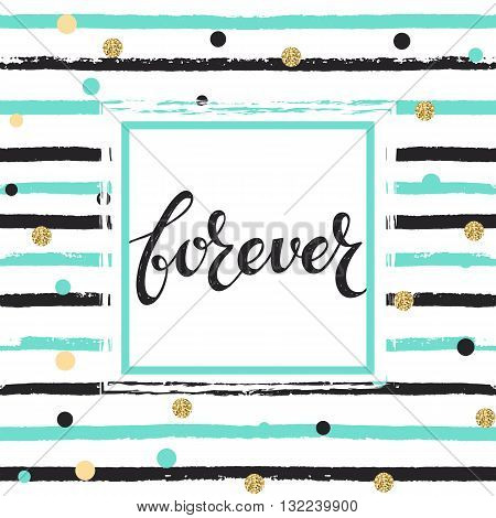 hand drawn vector grunge lineal pattern and hand drawn text