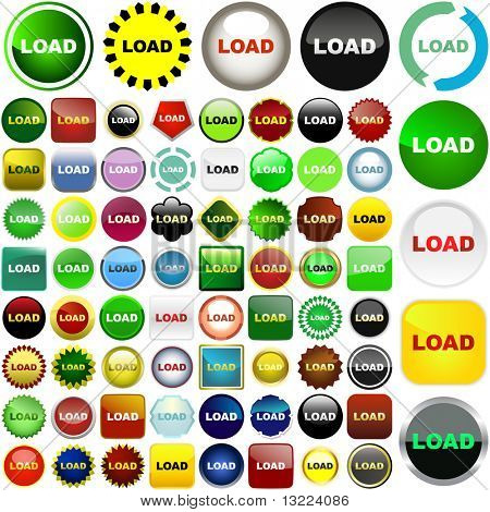 Load icons. Vector set for web.