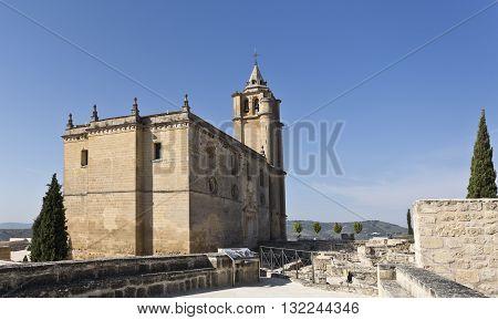 View of the Major Abbey Church in the Fortaleza de La Mota Spain