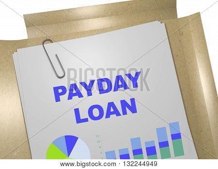 Payday Loan Business Concept