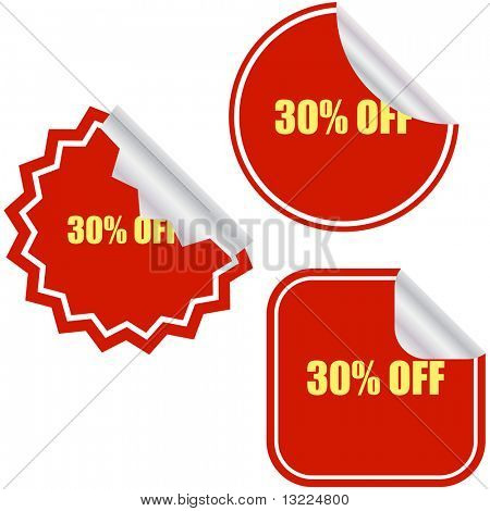 Discount label templates with percentages