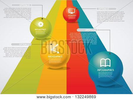 Vector Illustration:   info-graphic - sphere style - road