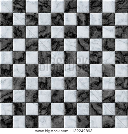 Checkerboard decorative texture - white and black pattern