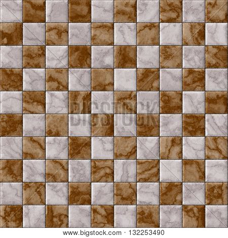 Checkerboard decorative texture - brown and white pattern