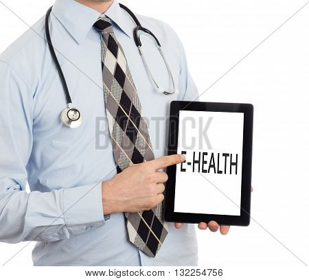 Doctor Holding Tablet - E-health