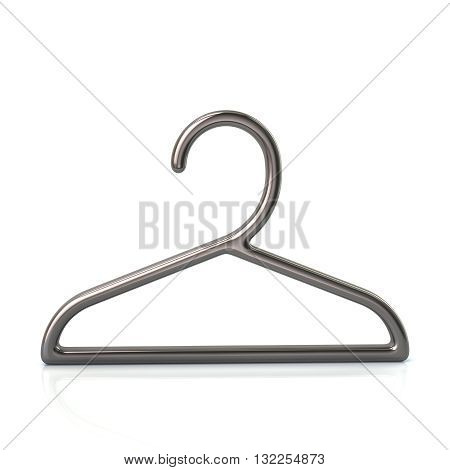 3D Illustration Of Silver Hanger Icon