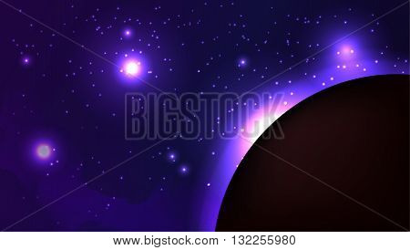 Vector illustration of space with planet Mars for your creativity