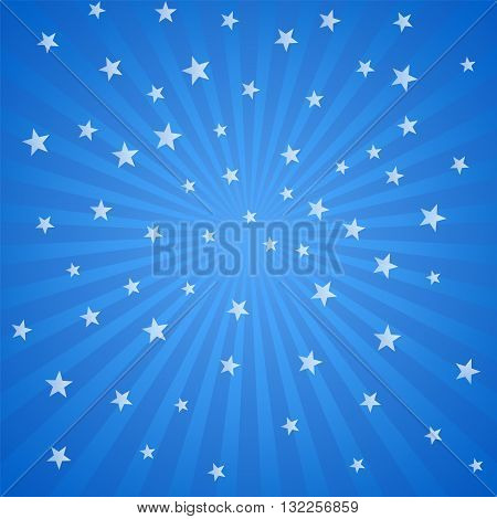 Blue background with white stars and stripes