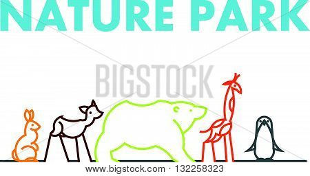 Vector flat simple minimalistic animal logo. Animal icon, animal sign, symbol isolated on white background.  Nature park, national zoo, pet shop logo, animal food store logo.
