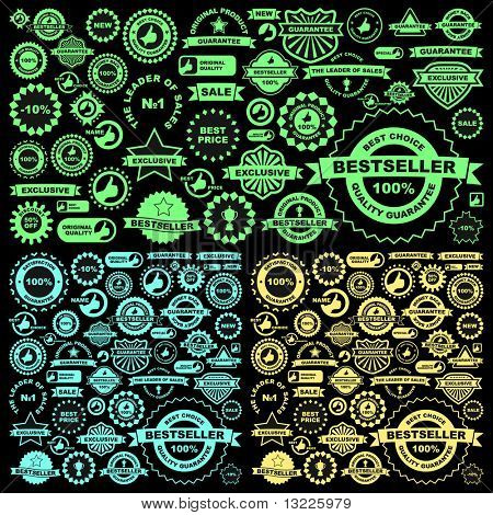 Set of design elements for sale. Vector great collection.