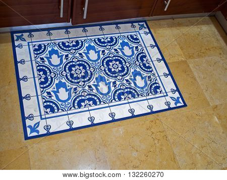 Traditional handmade colorful Moroccan Arabic style floor tiles