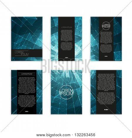 Set of Abstract Geometric Modern Flyers - EPS10 Brochure Design Templates