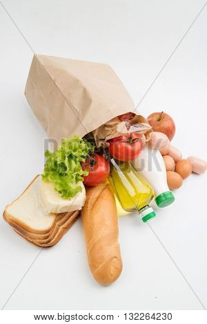 food in the paper bag