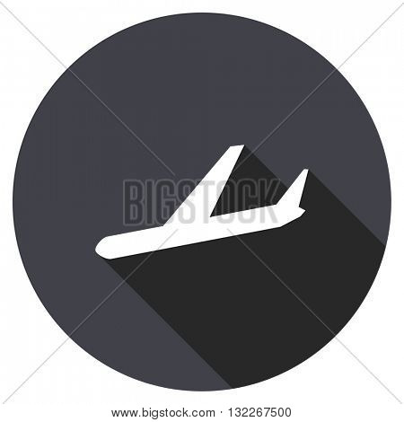 arrivals vector icon, round flat design button, web and mobile app illustration