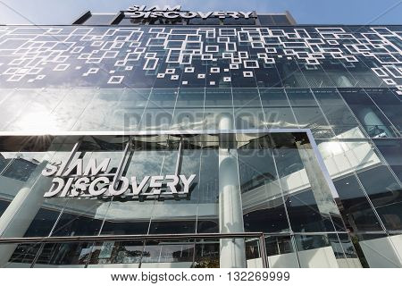 Bangkok Thailand - May 29 2016: Looking from outside on 'Siam Discovery' the new renovated shopping mall of Bangkok.