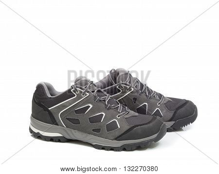Walking  Shoes Isolated On The White Backgroun