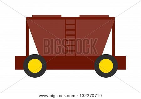 Vector collection of train cargo wagon, freight car tank. Freight car transportation train cargo and railroad freight car wagon industry. Container industrial goods vehicle freight car.