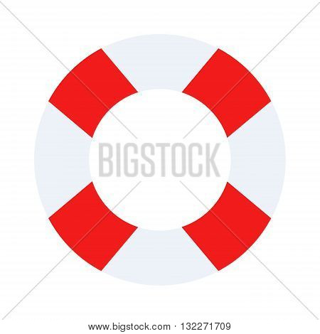 Lifebuoy vector symbol lifesaver swim. Isolated lifebuoy preserver object concept sign guard. Beach water ship graphic float lifebuoy. Stripped lifebuoy emergency help survival equipment protection.