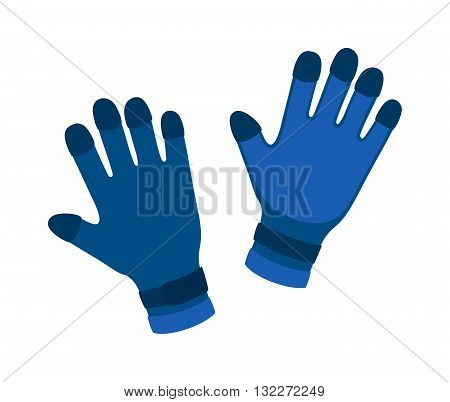 Water gloves cartoon vector illustration. Diver water gloves isolated on white. Water gloves underwater accessory. Vector water gloves. Diver water gloves couple