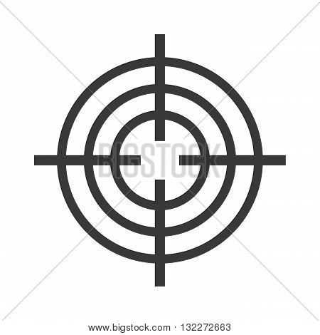 Target circle for archery. Target circle shooting target logo vector. Target circle arrow center competition goal and accurate bullseye shot perfect target circle. Board hit leisure black sign design.