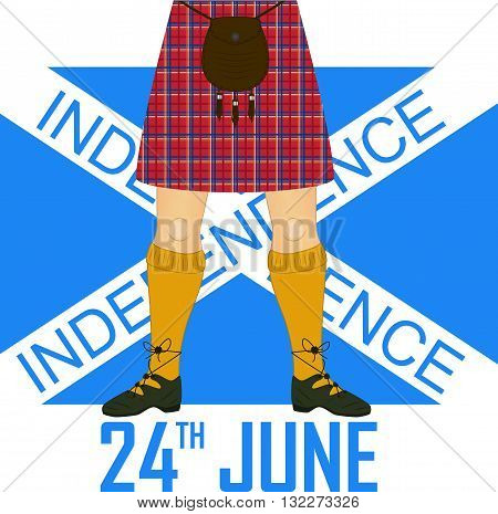 Scotland's independence day. Greetings illustration. Card design template vector.