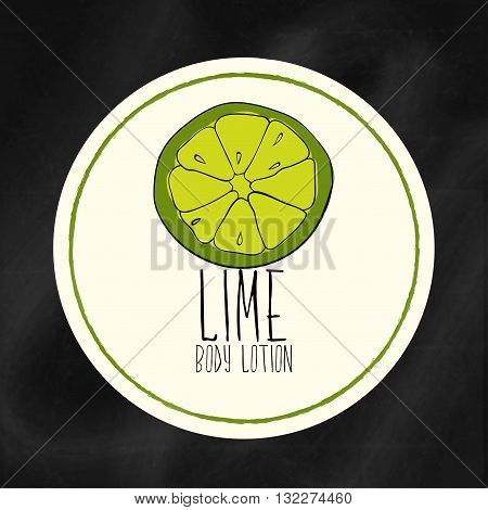 A set of labels with frames for beauty and health. Lime moisturizing lotion for body and hands. Vector