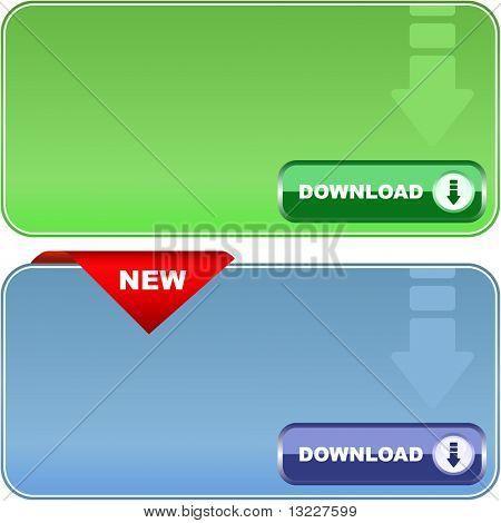 Download banner. Vector set for web.